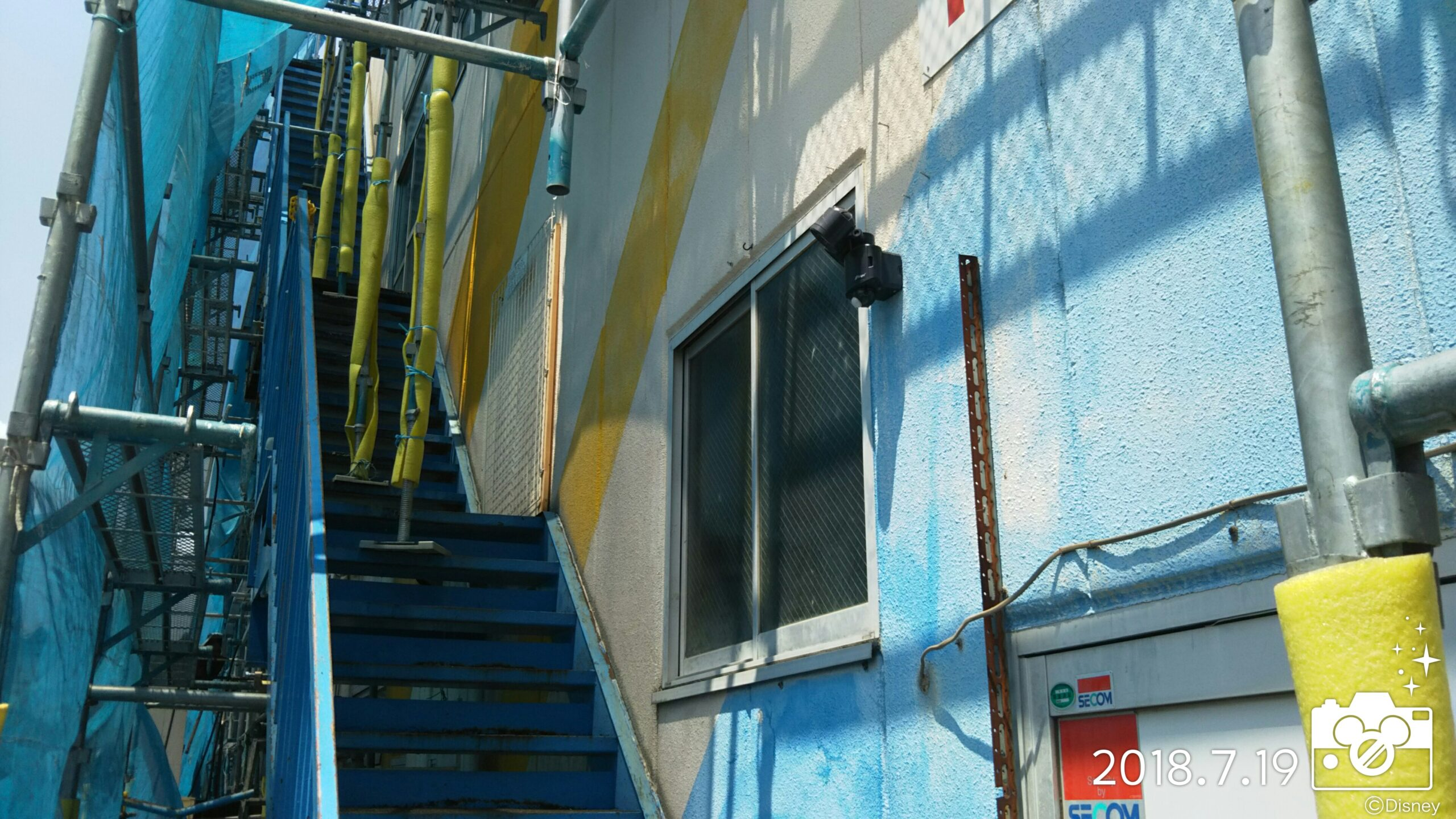 埼玉県さいたま市 外壁及び鉄部塗装(外壁洗浄・鉄部塗装の為のケレン) 埼玉県さいたま市見沼区の某工場にて塗り替えリフォーム中