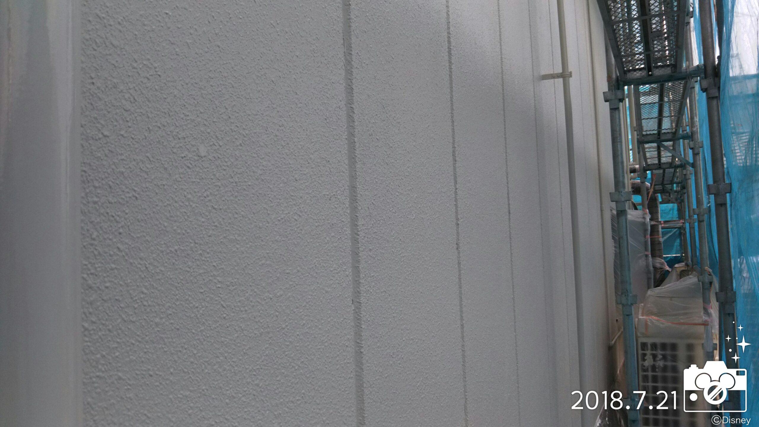 埼玉県さいたま市 外壁塗装・鉄部塗装(コーキング・外壁中塗り塗装・養生) 埼玉県さいたま市見沼区の某工場、塗り替えリフォーム中