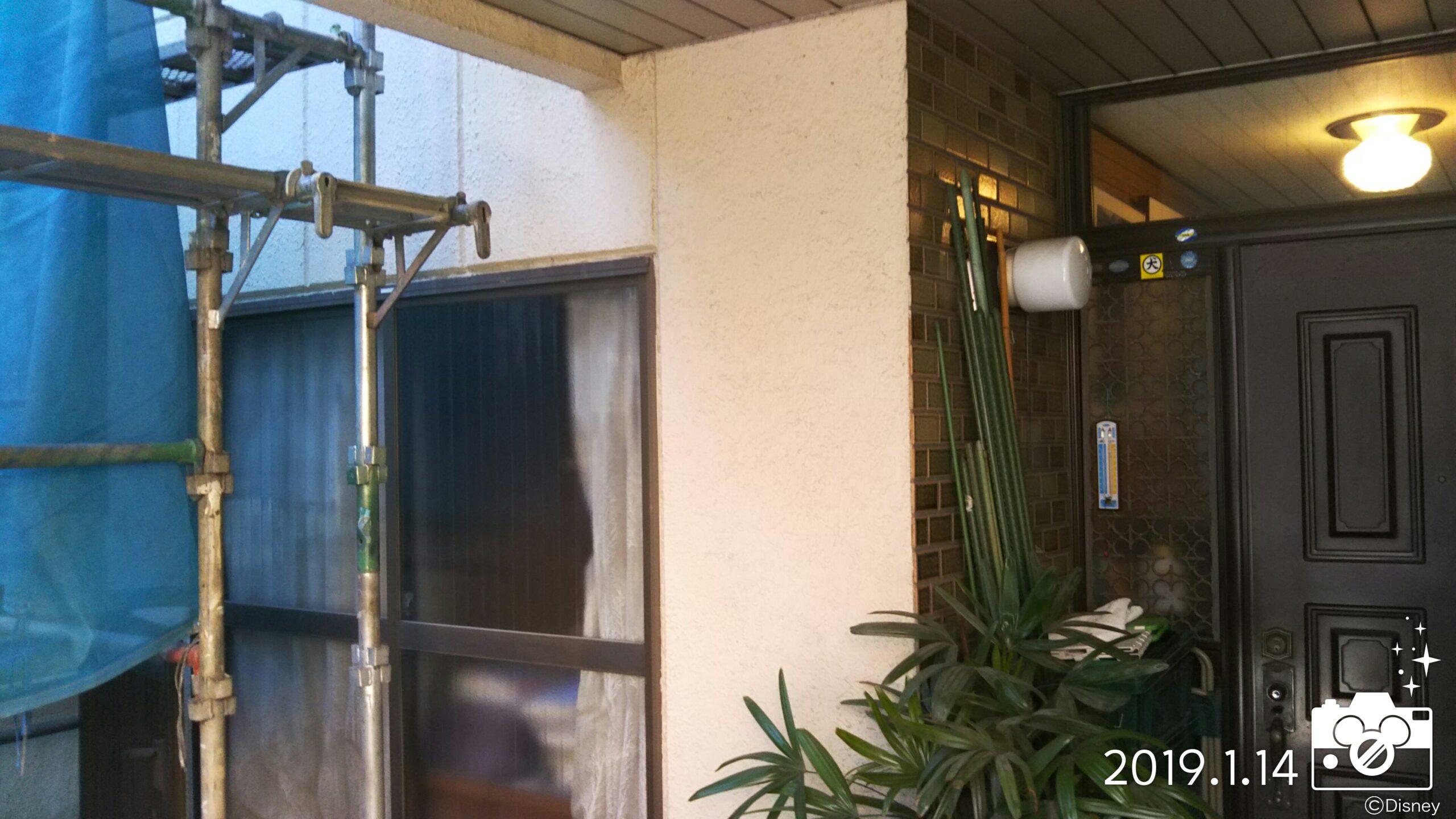 埼玉県さいたま市 外壁塗り替え塗装の養生|さいたま市岩槻区のY様邸(鉄骨3階建て)にて塗り替えリフォーム中