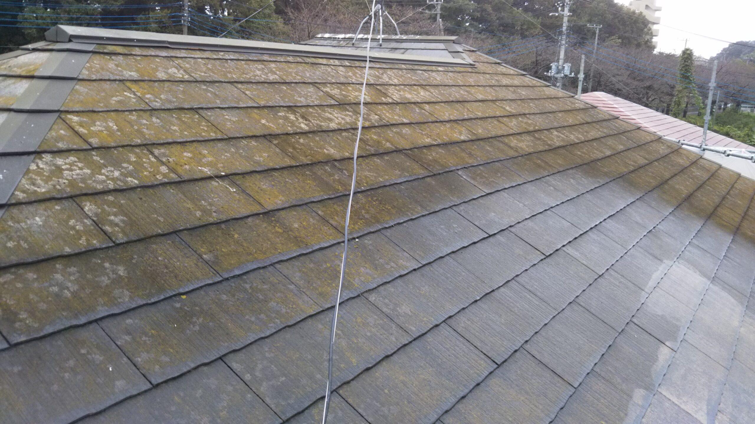 さいたま市浦和区のK様邸(木造2階建て)にて屋根・外壁の高圧洗浄