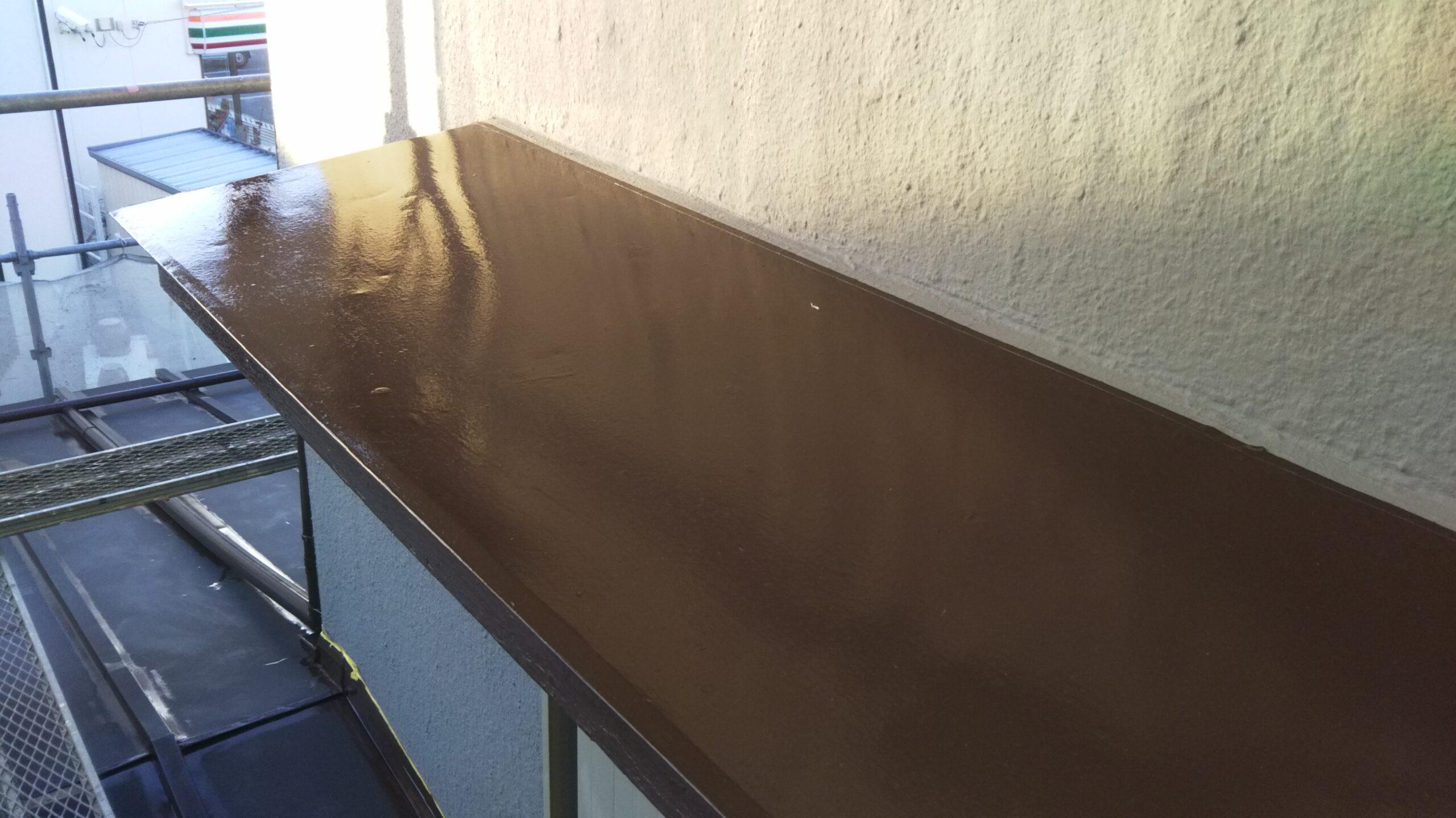 埼玉県さいたま市岩槻区のN様邸(木造2階建て)にて木部・鉄部・縱樋の塗装