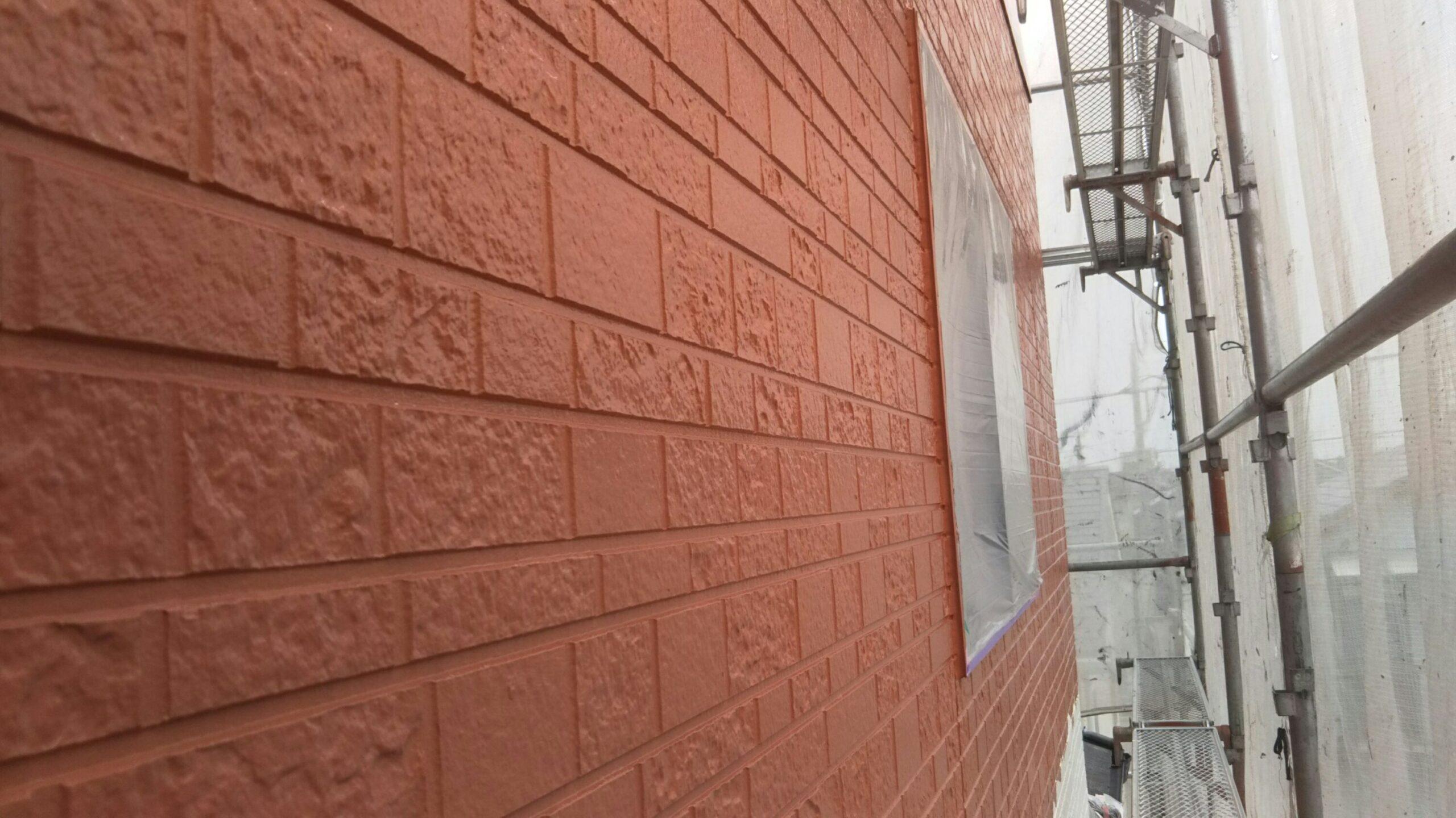 埼玉県さいたま市中央区のK様邸(木造3階建て)にて外壁の中塗り塗装