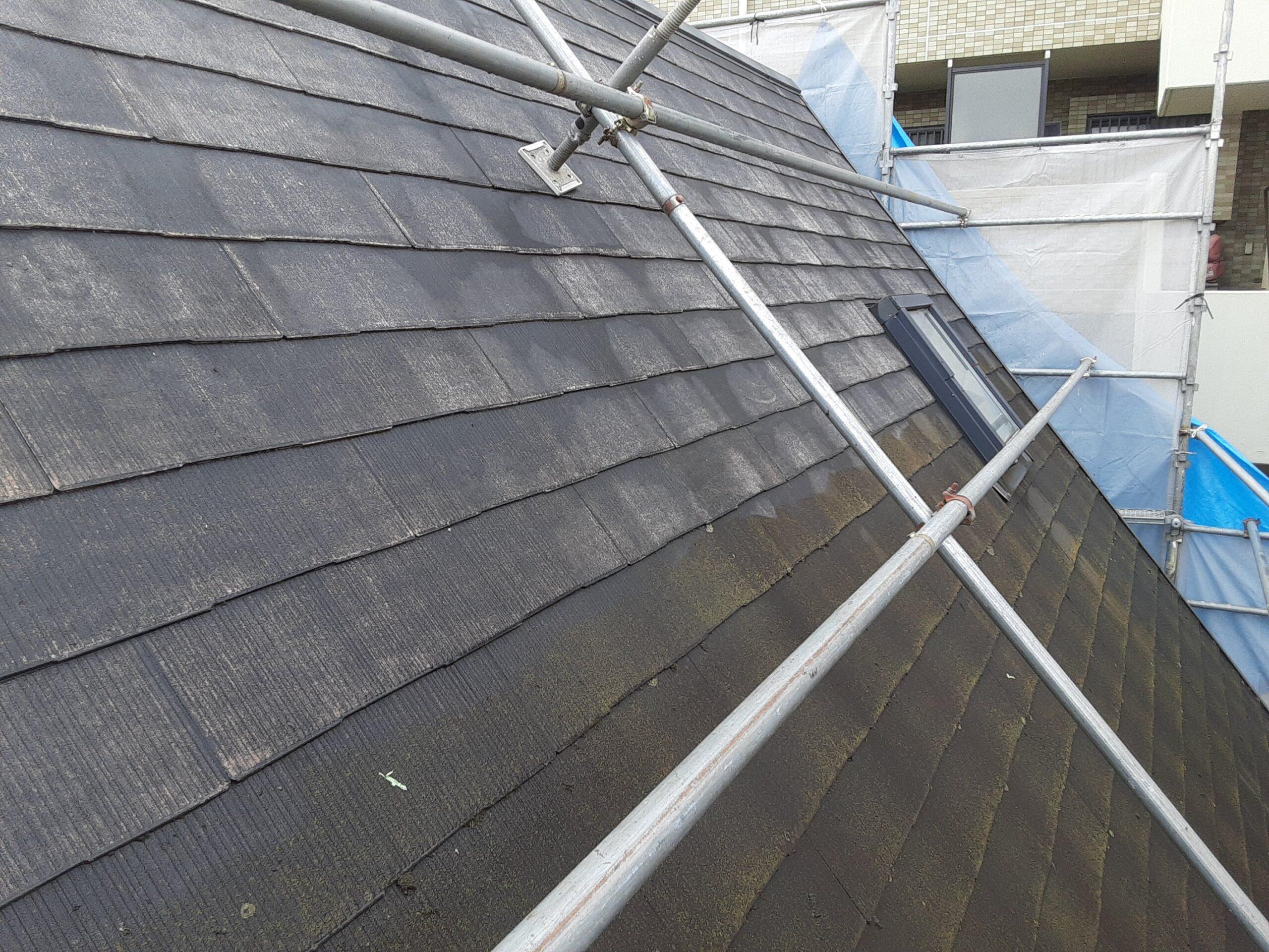 埼玉県さいたま市桜区のW様邸(木造3階建て)にて屋根・外壁の高圧洗浄