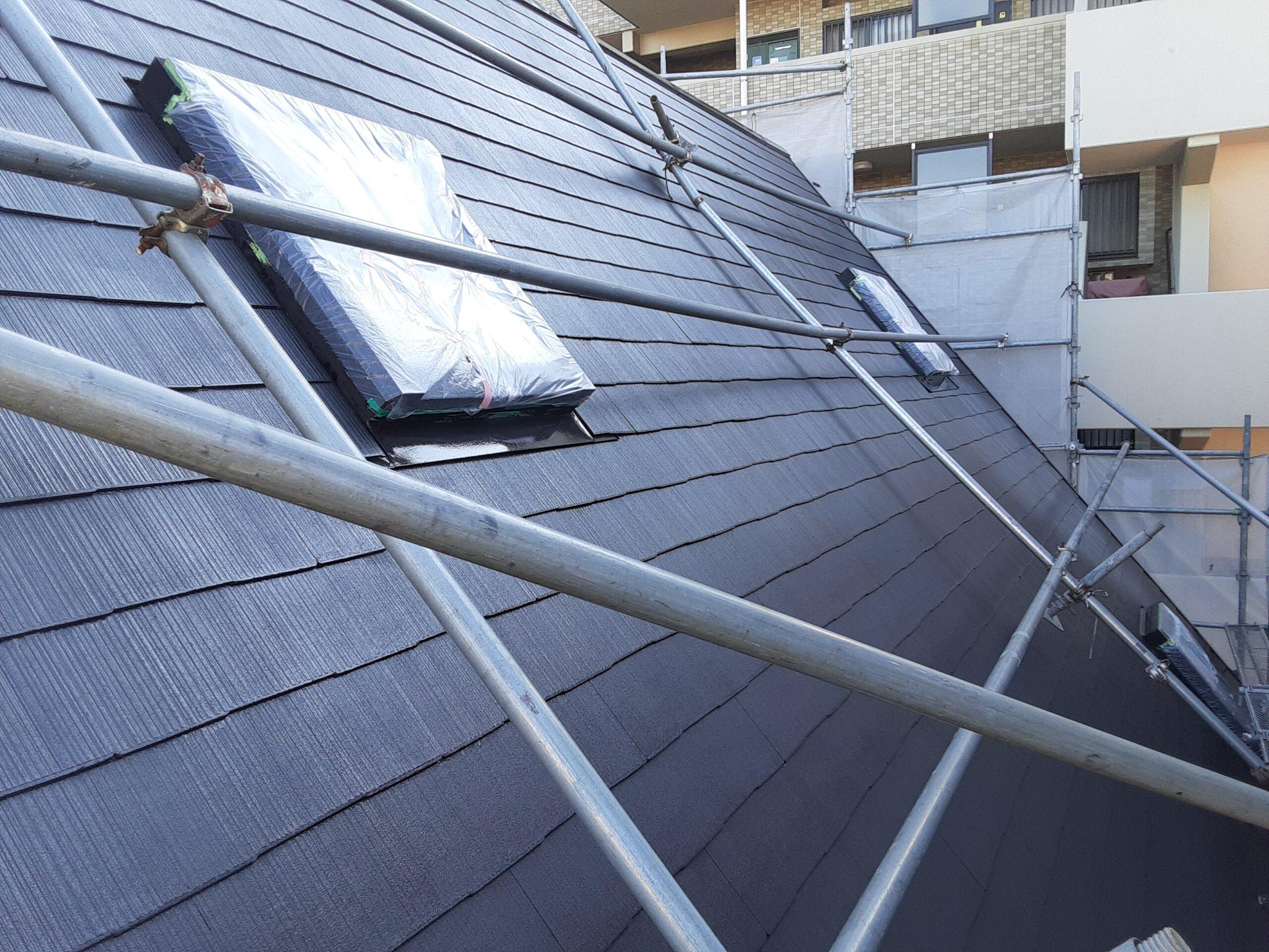 埼玉県さいたま市桜区の(木造3階建て)W様邸にて外壁・屋根の塗装工事