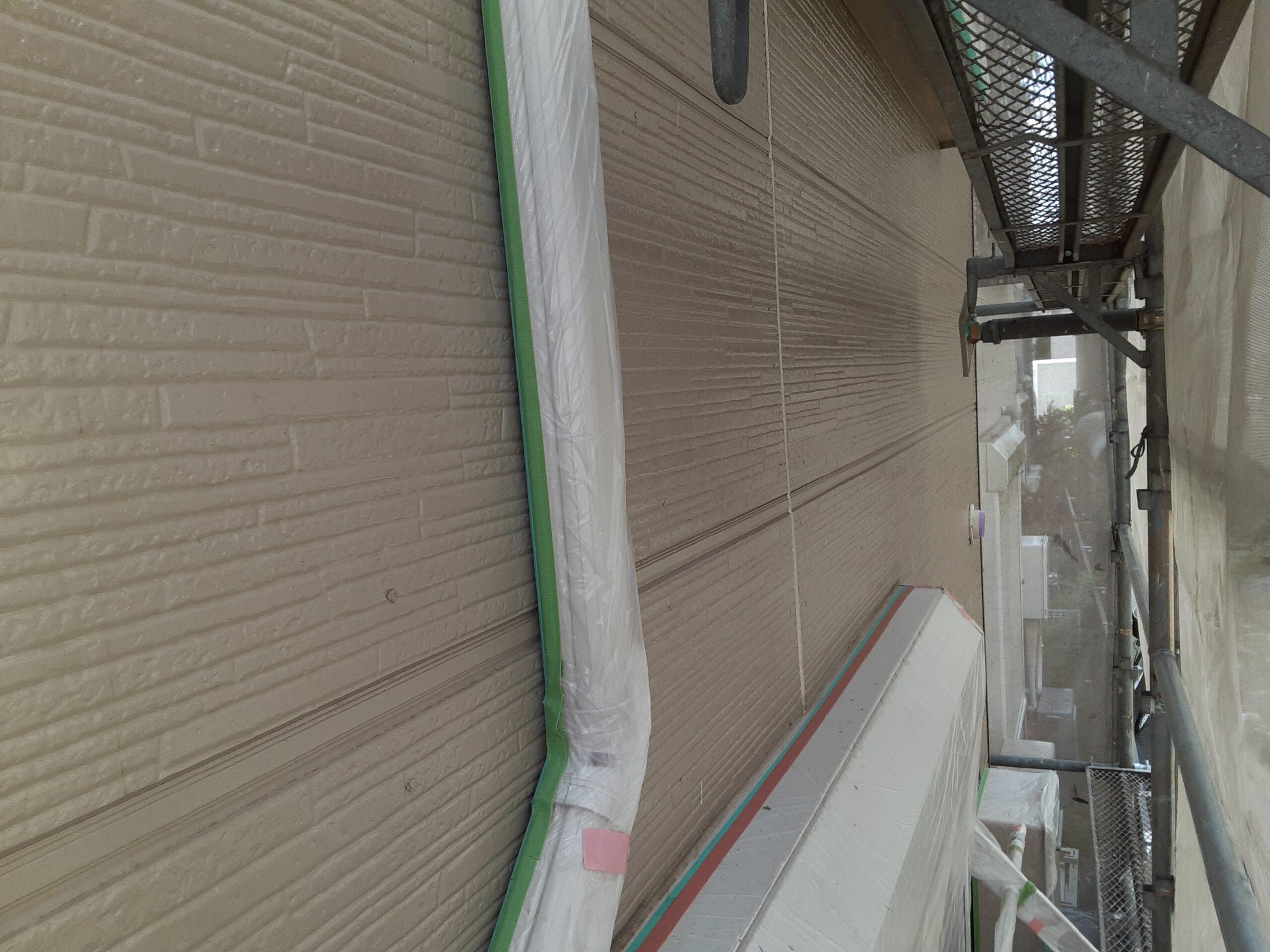 埼玉県さいたま市桜区の(木造3階建て)W様邸にて外壁の塗装工事