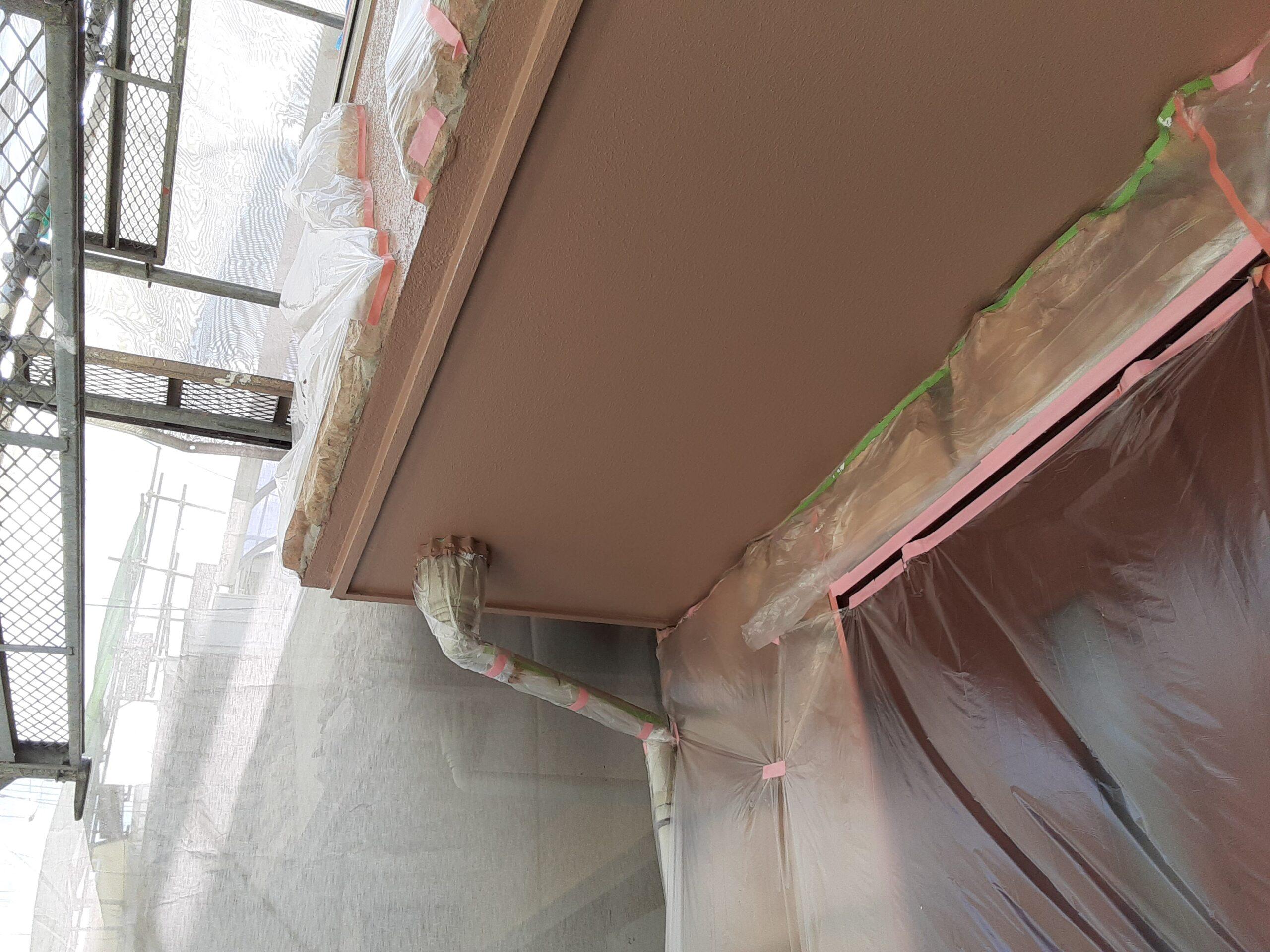 埼玉県さいたま市桜区のW様邸(木造3階建て)にて外壁の仕上げ塗装