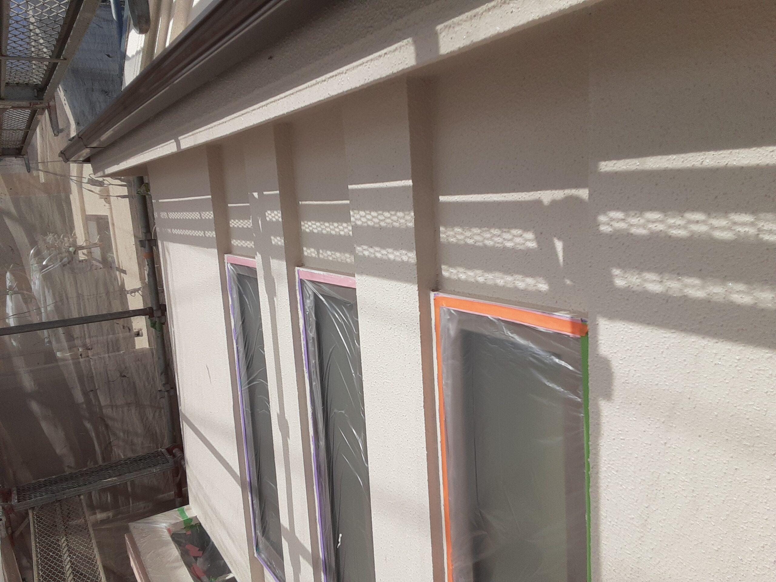 外壁塗り替えリホーム/さいたま市大宮区の(木造2階建て)W様邸にて塗り替えリホーム中