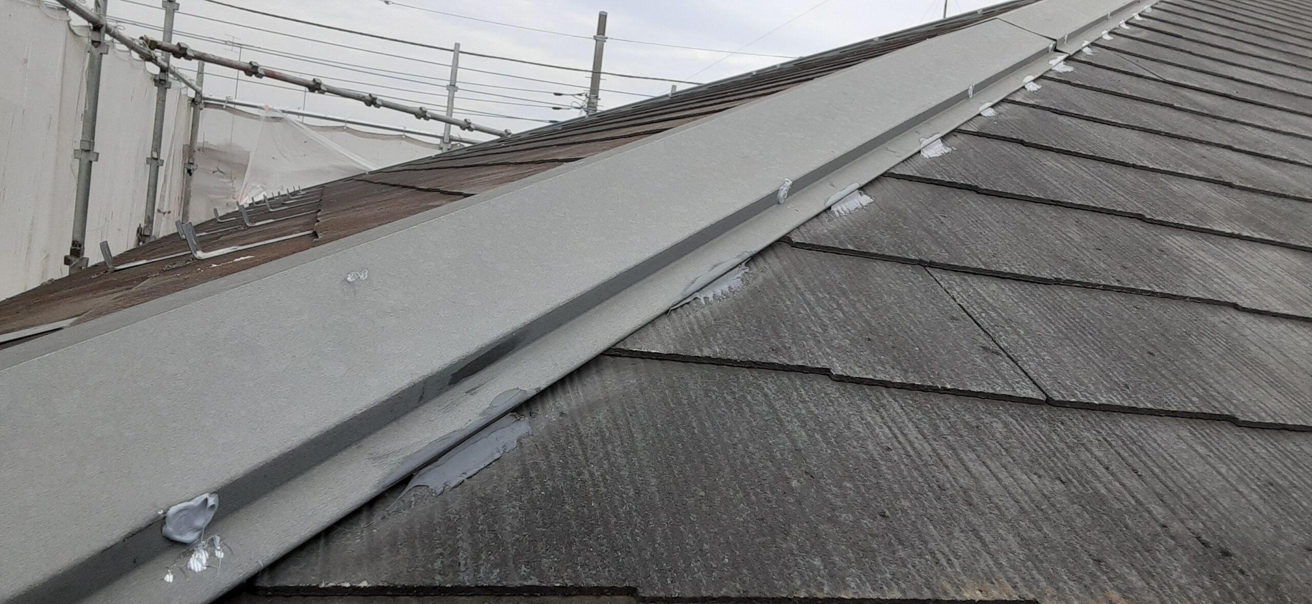 埼玉県さいたま市 屋根のコーキング、コーキングの撤去/さいたま市岩槻区の(木造2階建て)M様邸にて塗り替えリホーム