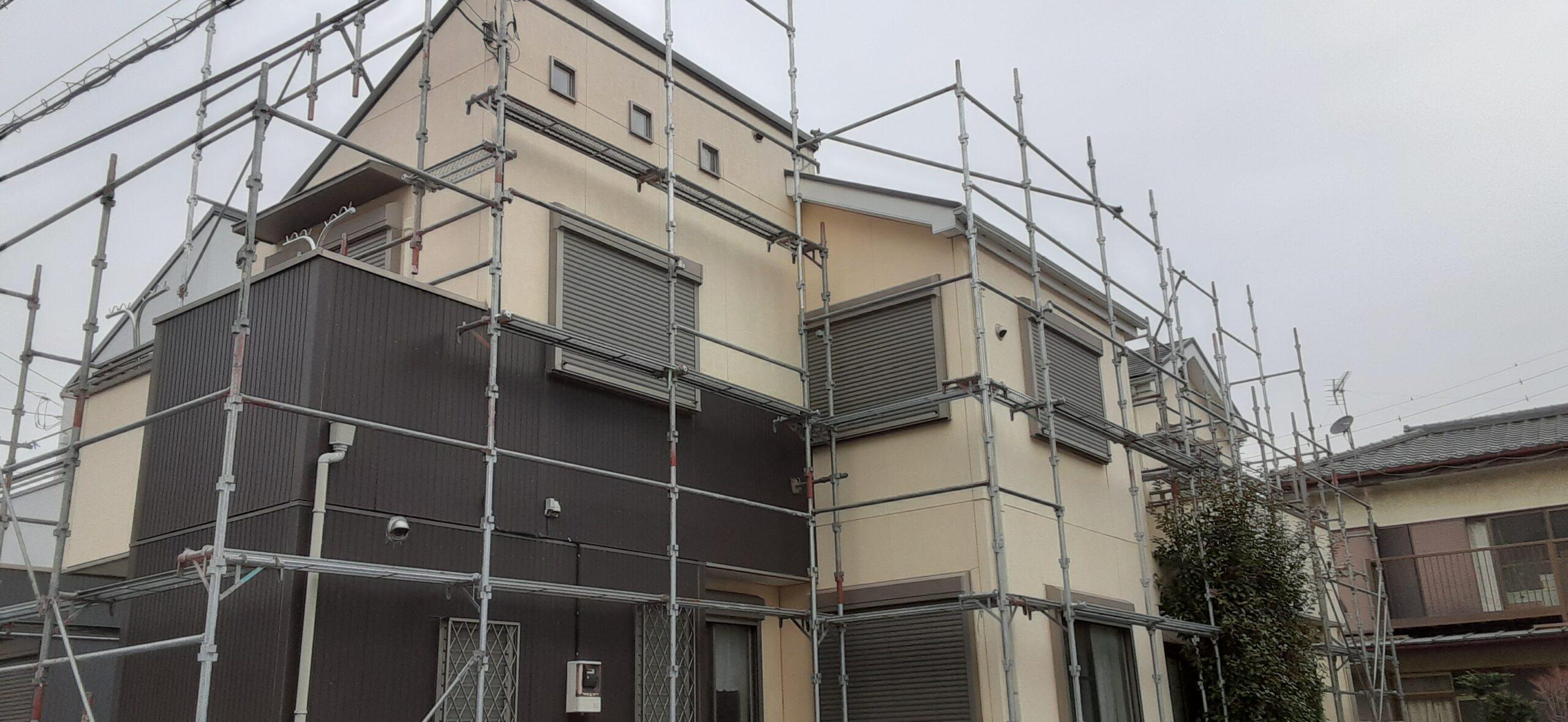 屋根の高圧洗浄/さいたま市岩槻区の(木造2階建て)S様邸にて塗り替えリホーム