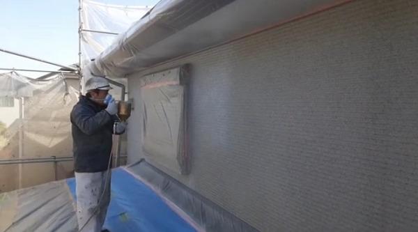 さいたま市K様邸の外壁塗装 吹き付け塗装の様子をYouTubeにアップしました!
