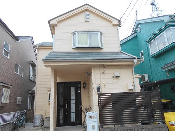 埼玉県越谷市 屋根塗装 外壁塗装 施工前の状態 外壁と屋根の劣化症状 (2)