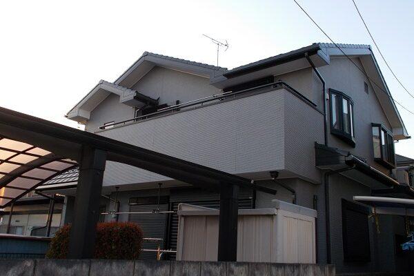 埼玉県上尾市 E様邸 外壁塗装・付帯部塗装・コーキング工事1