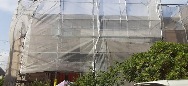 埼玉県さいたま市緑区 S様邸 外壁塗装 仮設足場 メッシュシート (5)