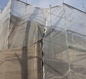 埼玉県さいたま市緑区 S様邸 外壁塗装 仮設足場 メッシュシート (3)