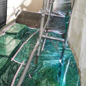 埼玉県さいたま市南区 S様邸 屋根塗装・外壁塗装 養生 下塗り (4)
