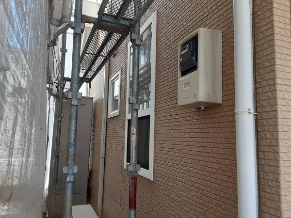 埼玉県さいたま市中央区 H様邸 外壁塗装・付帯部塗装 下地処理 高圧洗浄 (2)