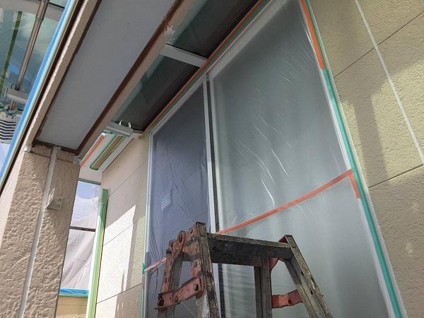 埼玉県さいたま市中央区 H様邸 外壁塗装・付帯部塗装 下地処理 養生 (2)