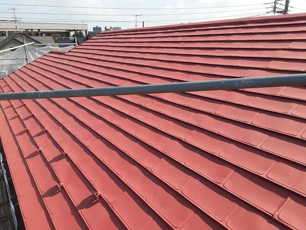 埼玉県さいたま市岩槻区 K様邸 屋根塗装・外壁塗装 屋根3度塗り 雪止め (3)