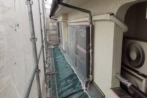 埼玉県さいたま市中央区 S様邸 外壁塗装・付帯部塗装 見積書の「養生」って何 養生中は生活に支障をきたす事があります (1)