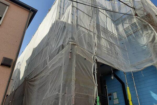 埼玉県さいたま市南区 アパート 外壁塗装 仮設足場 足場の種類と費用 (2)